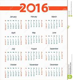 Calendario Semana Calendario Por Semanas Semanas 2016 Calendar Printable 2017