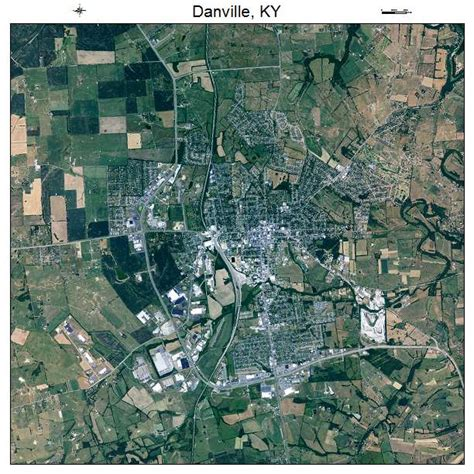 ky map danville aerial photography map of danville ky kentucky