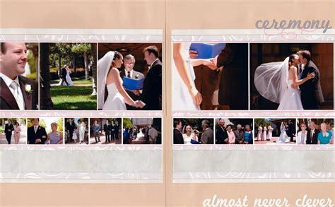 wedding photobook layout scrapbook layout wedding scrapbook ceremony layout