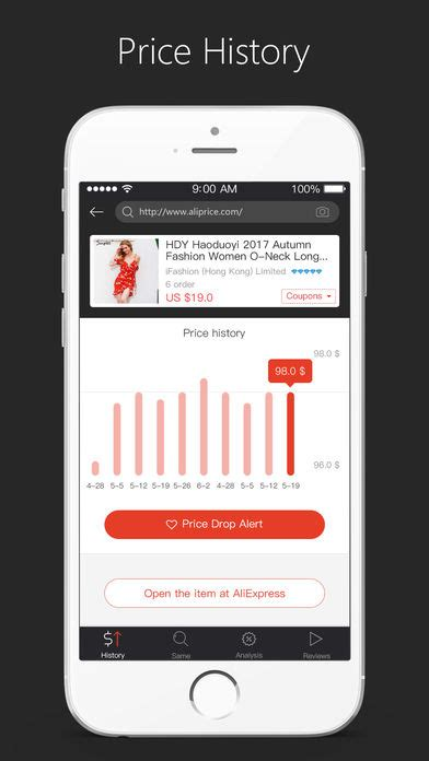 aliexpress price history aliprice aliexpress assitant app report on mobile action
