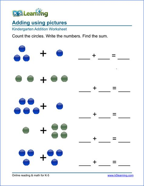 free preschool amp kindergarten simple math worksheets