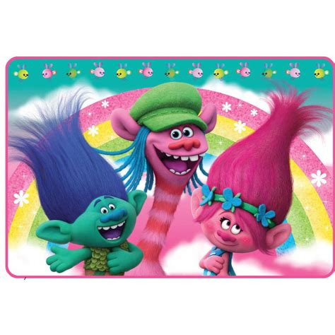 bathroom troll dreamworks trolls bath rug princess poppy branch rainbow kids foam bathroom new ebay