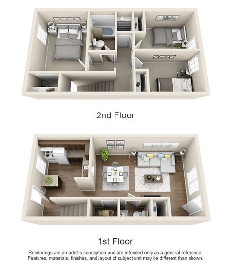 Townhome Plans Floorplans 400 North Townhomes