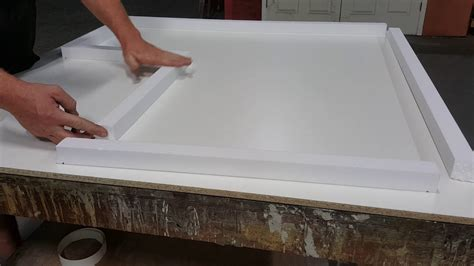 how to make a small concrete countertop form with foam