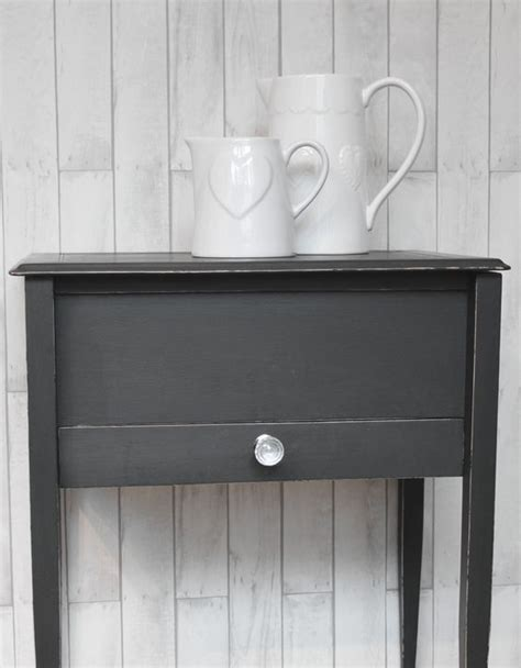 autentico chalk paint loft upcycled side table painted in autentico quot nearly black