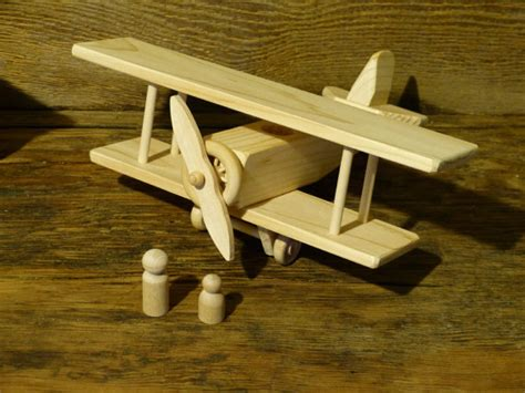 Handmade Wooden Planes - handmade wood bi plane plane airplane wooden toys eco
