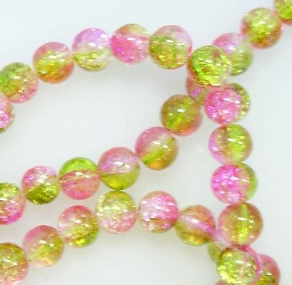 Crackle Green 8mm 8mm crackle pink green gifts n crystals