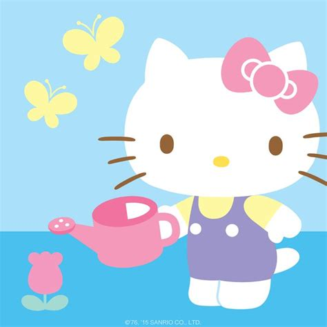 hello kitty summer hello kitty attends to her lovely garden in the company of