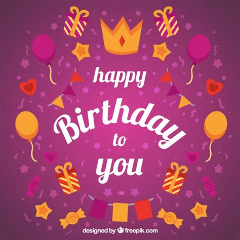 happy birthday to you background vector premium