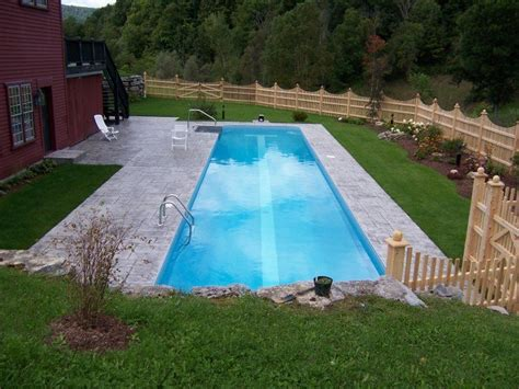 cool backyards with pools cool rectangular rural backyard pool awesome inground