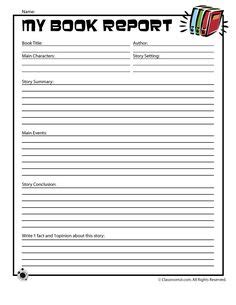 book reports for 7th grade printable book report page and reading chart my graphic