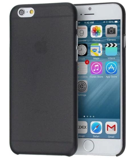 apple iphone 6s cover by imc deals black plain back covers at low prices snapdeal india