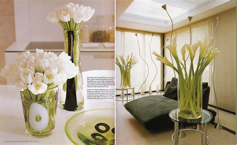white tulips and calla lilies kitchen dining interior