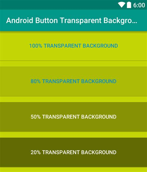 xml layout background color making transparent background in android button viral