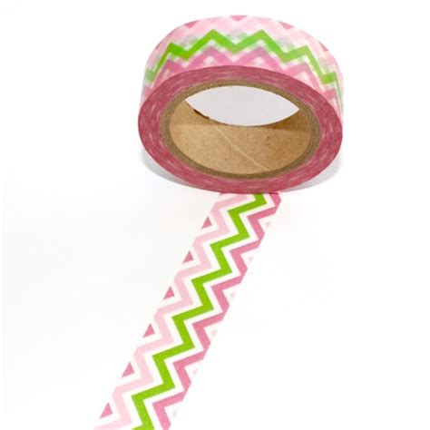 Washitape Zigzag zigzag washi pink green washi decorative