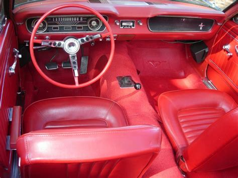 65 Mustang Upholstery by Black 1965 Ford Mustang Convertible