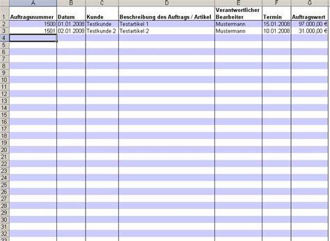 Kostenlose Vorlage Kassenbuch Rs Auftragsbuch Excel Tool