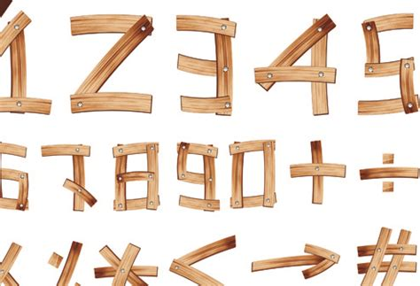 wood pattern font vector roman numeral clock free vector download 880 free