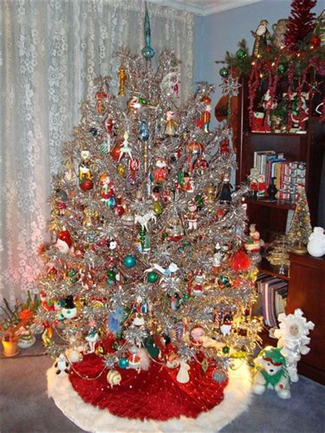 aluminum tree silver christmas trees pinterest