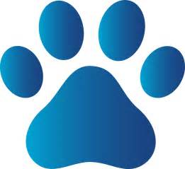 blue dog paw print free clip art