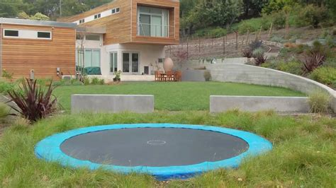 backyard video backyard troline ideas in ground troline youtube
