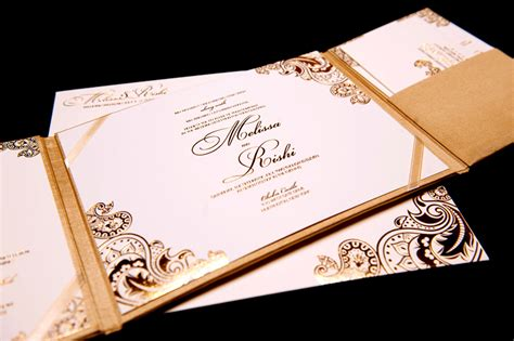 Wedding Invitations Gold And White by Gold White Wedding Invitations Foil Sted Onewed