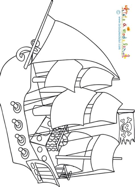 dessiner un bateau pirate coloriage d un bateau pirate sur t 234 te 224 modeler