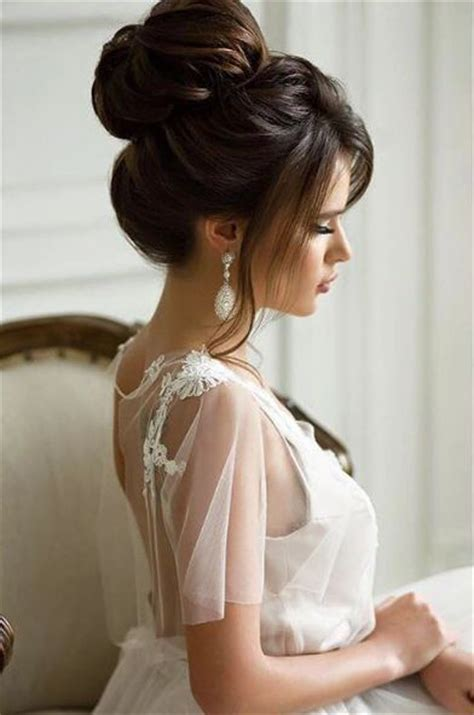 best wedding medium hairstyle with side bun for black 25 best ideas about high updo on pinterest high updo