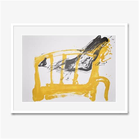 Chaise 1 Pied by Antoni Tapies Lithograph Print Chaise Et Pied For Sale