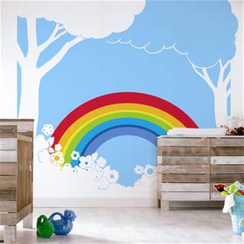 rainbow wall murals rainbow wall mural 2017 grasscloth wallpaper