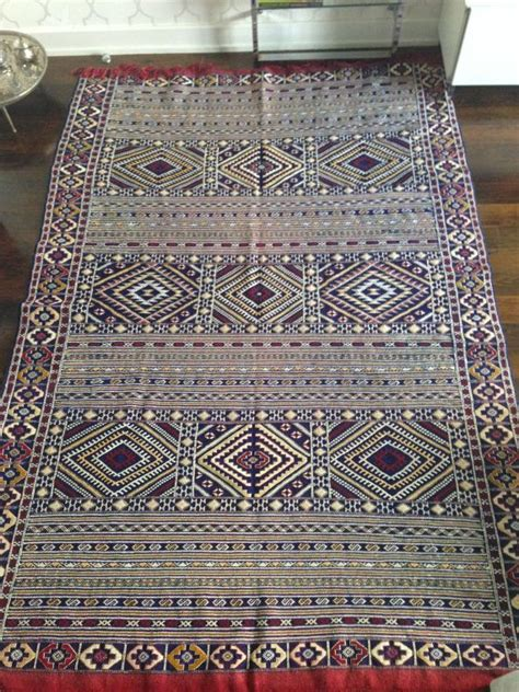 Handmade Moroccan Rugs - vintage large handmade moroccan berber kilim rug middle