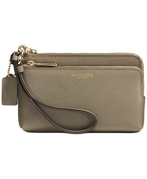Zip Wristlet nwt coach l zip saffiano leather wristlet wallet