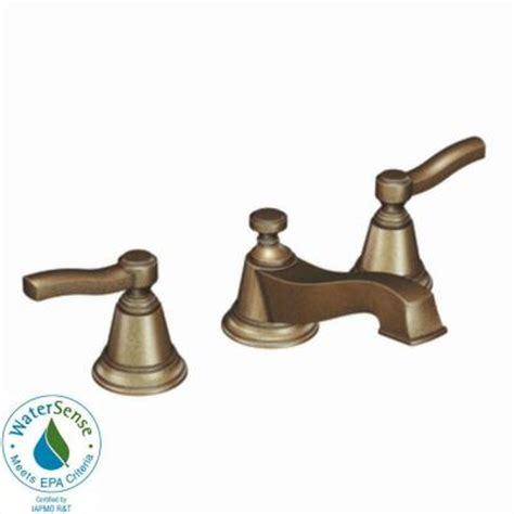 Antique Bronze Bathroom Fixtures Moen Rothbury 8 In Widespread 2 Handle Low Arc Bathroom Faucet Trim Kit In Antique Bronze