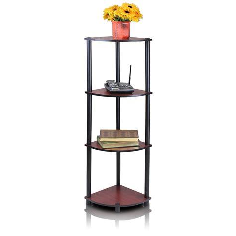 Corner Shelf Rack by 4 Tier Corner Shelving Unit And Display Rack Cherry