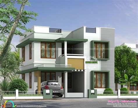 flat roof luxury home design kerala floor plans building simple flat roof house in kerala home design and floor
