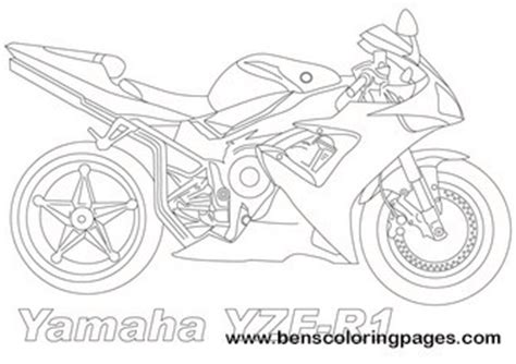 yamaha motorcycle coloring pages yamaha yzf r1 coloring page