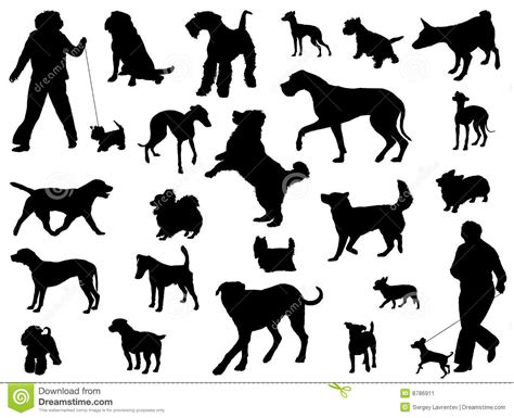 dog silhouette stock image image 8786911