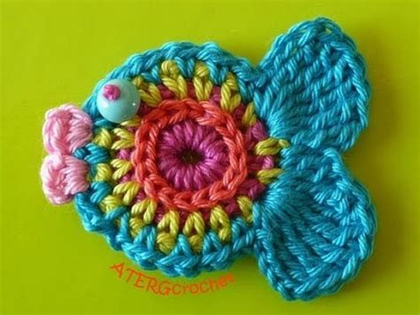 youtube pattern fish crochet fish applique youtube