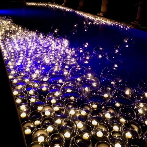 floating candles pool or pond cute idea for summer