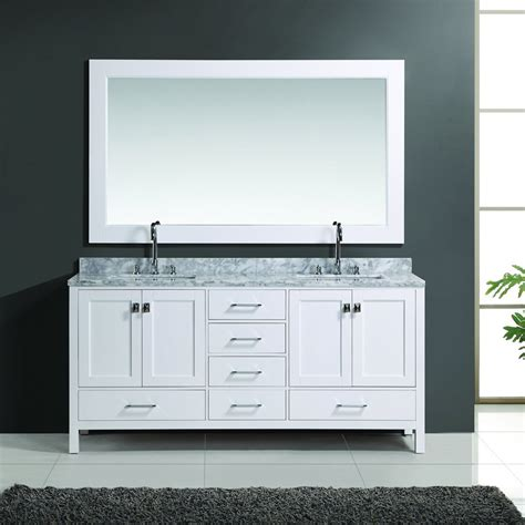 Mirror For Bathroom Vanity Design Element 72 Quot Sink Bathroom Vanity W Mirror White Dec082b W J Keats