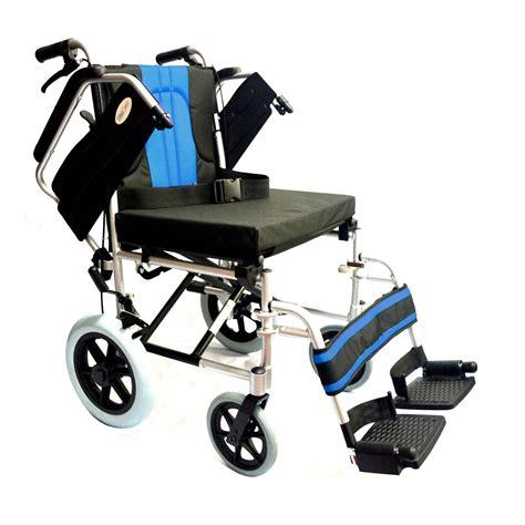 sedia a rotelle in inglese leggero deluxe pieghevole transito alluminio viaggio sedia