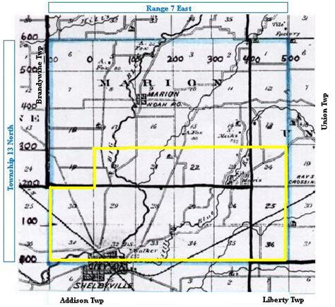 Shelby County Indiana Records Shelby County Indiana History Genealogy Courthouse Land Purchases T13 R7