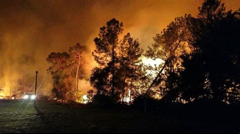 florida wildfires florida wildfires mandatory evacuations ordered for