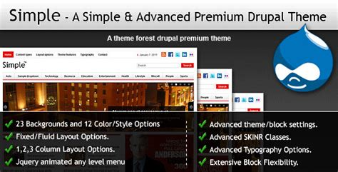 themeforest drupal 7 simple a simple premium drupal themeforest theme