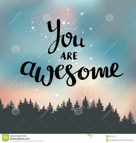 you are awesome images you are awesome quote vector illustration cartoondealer
