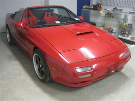 buy used 1990 mazda rx 7 red convertible 5 speed sparco