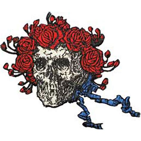 Grateful Dead Home Decor the grateful dead skull and roses embroidered patch