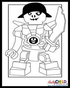 skeleton lego ninjago coloring pages