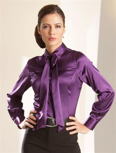 Loe Style Blouse Purple purple blouse collar blouses