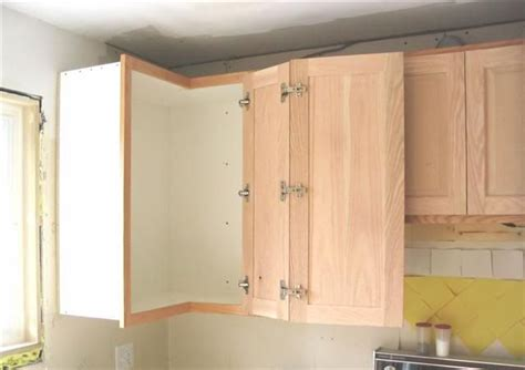 kitchen upper corner cabinet upper corner cabinet double hinged door kitchen pinterest